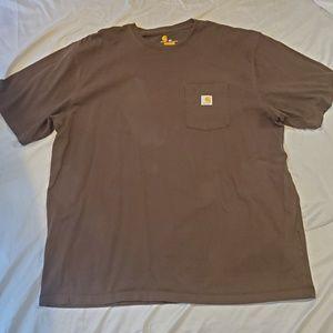 Carhartt Mens Brown Basic T-Shirt